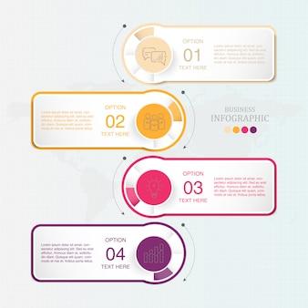 Standard-infografik für unternehmen