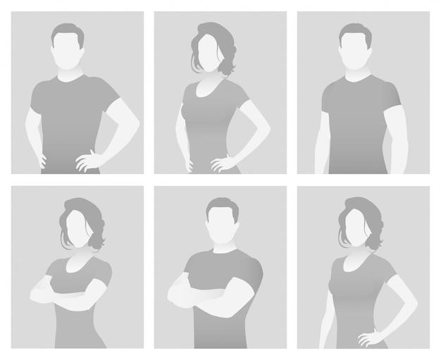 Standard-platzhalter-fitnesstrainer in einem t-shirt.