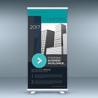 Standby roll-up banner design für ihre business-präsentation