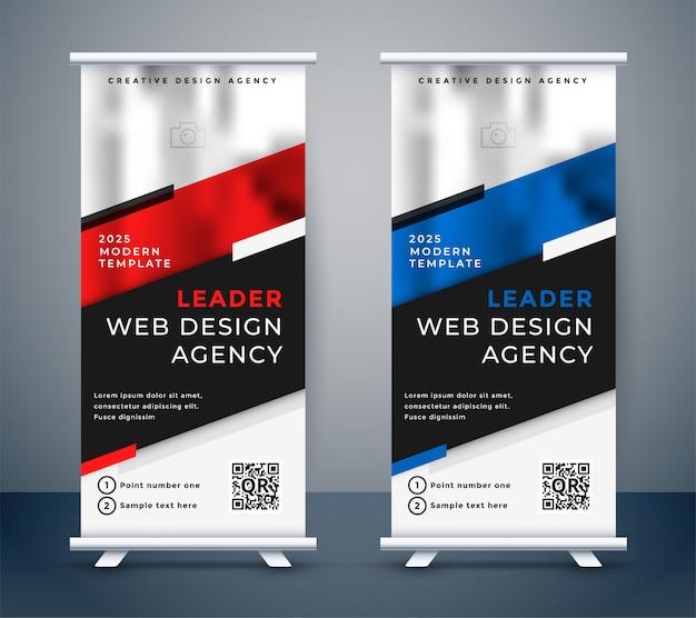 Standee design für ihre business-präsentation