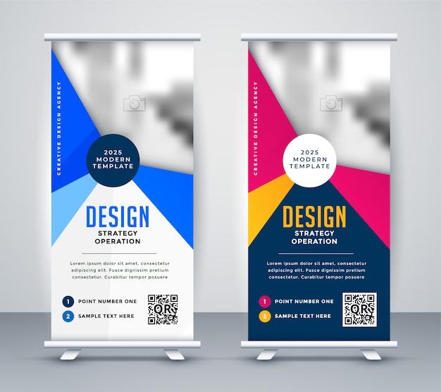Standee-roll-up-banner für besprechungspräsentationen