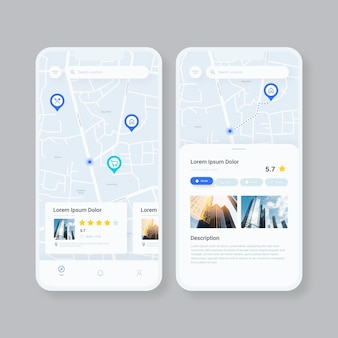 Standort-app auf dem smartphone