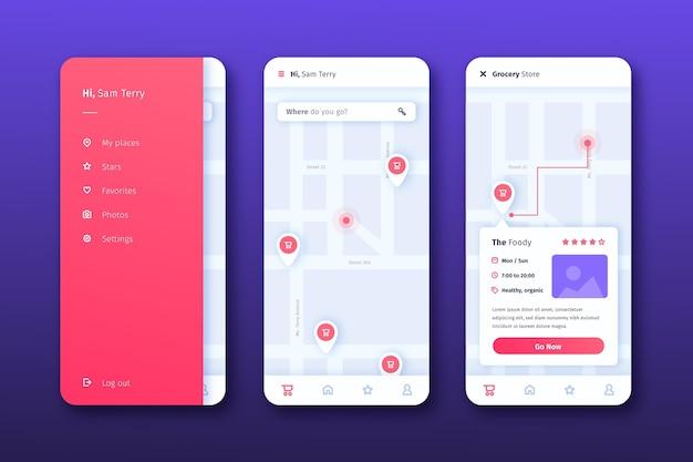 Standort-app-oberfläche
