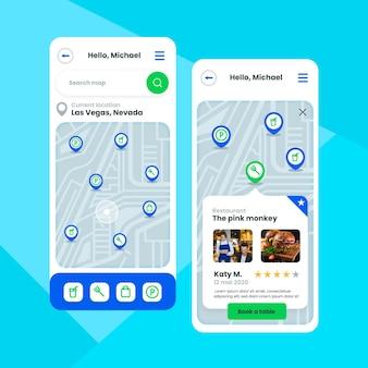 Standort-app-vorlagenpaket