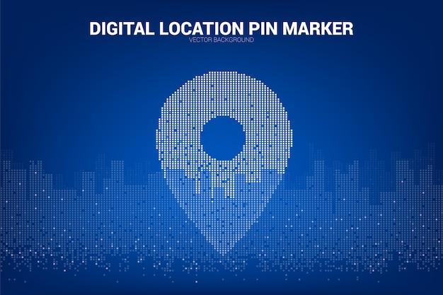 Standort pin-marker signage pixel-stil
