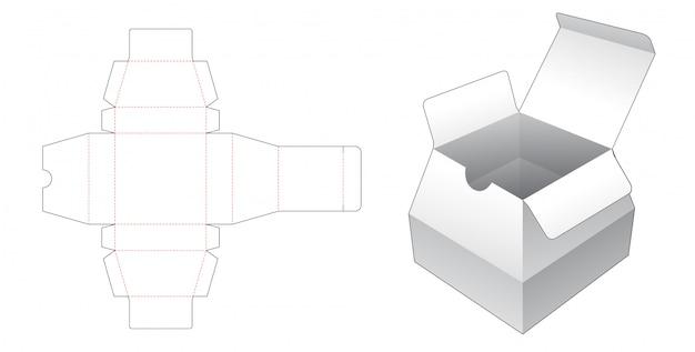 Stanzschablone aus trapezförmigem karton