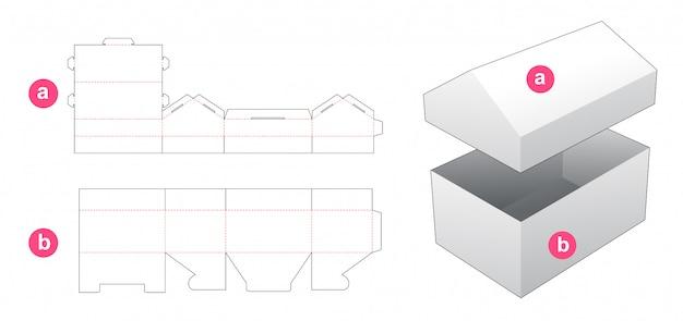 Stanzschablone für hausbox und deckel