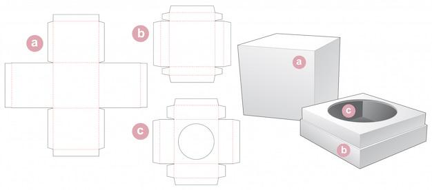 Stanzschablone für parfümverpackungsbox