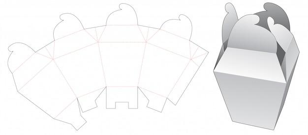 Stanzschablone für radschlossverpackungsbox