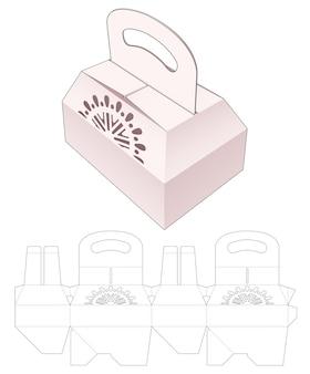 Stanzschablone für verpackungsboxen