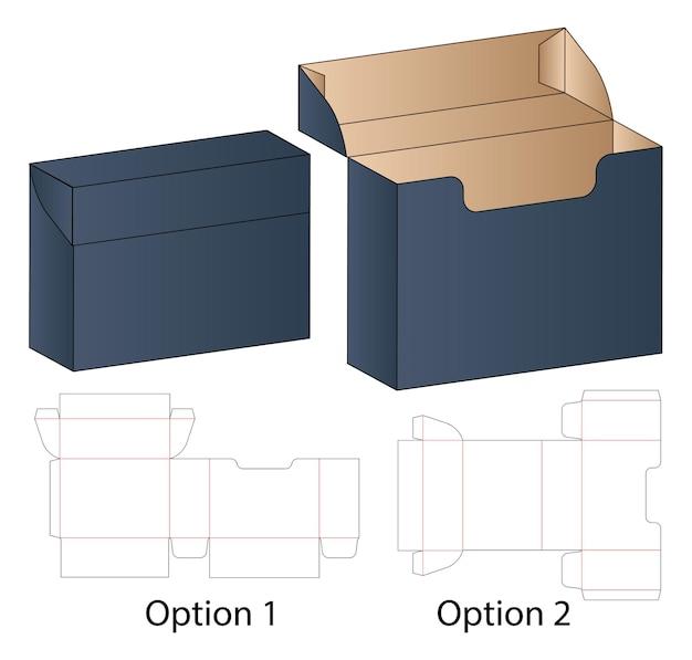 Stanzschablonendesign für schachtelverpackungen
