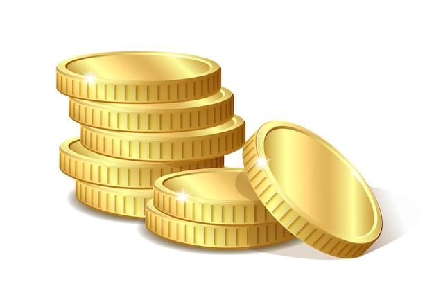 Stapel der goldmünzenillustration