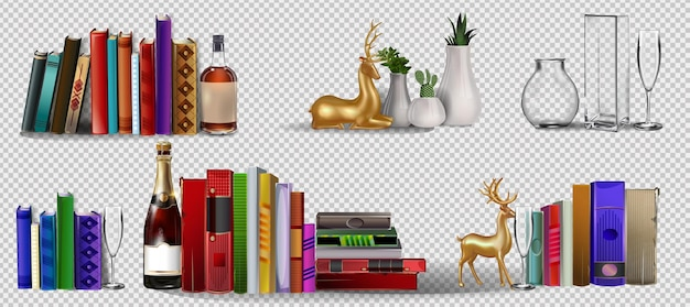 Stapel farbiger bücher mit lesezeichen bücherregal farbsymbol für website-design