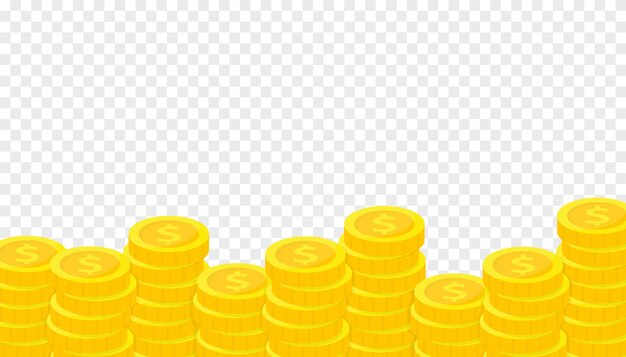 Stapel goldmünzen. sparen, spenden, investieren, bezahlen.