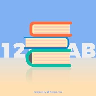 Stapel von lehrbüchern