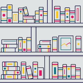 Stapelbuchillustration in der dünnen linie