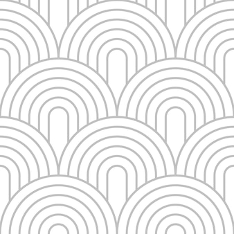 Stapeln kreisförmige linie kunst in silberner farbe