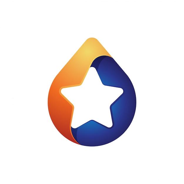 Star drop logo