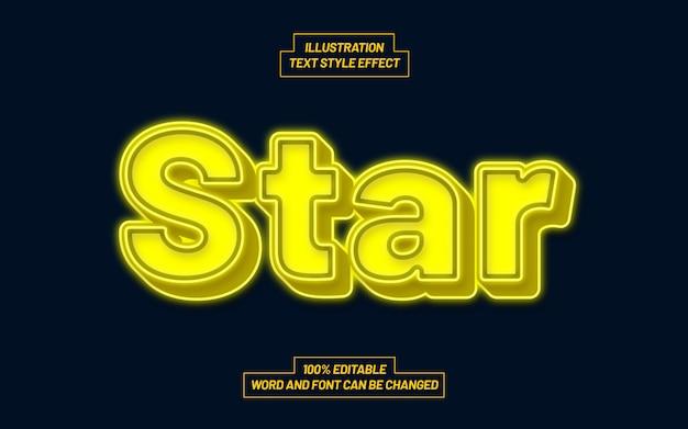 Star text style effekt