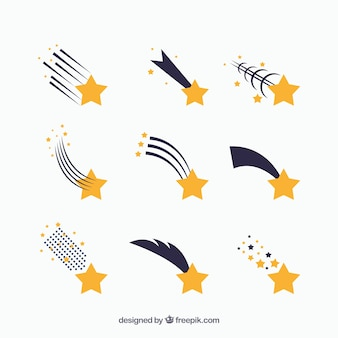 Star-trail-set von neun