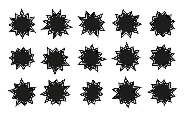 Starburst aufkleber gesetzt