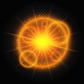 Starburst hintergrund mit licht und sonnenstrahlen