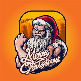 Starke weihnachtsmann-illustration