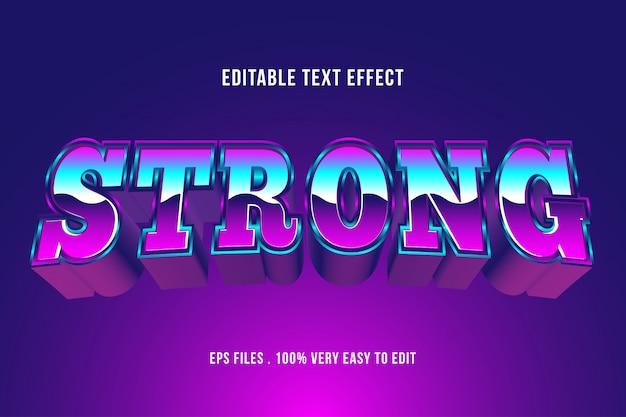 Starker fettdruckeffekt, bearbeitbarer text