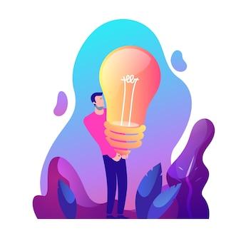 Starker mann und kreative idee