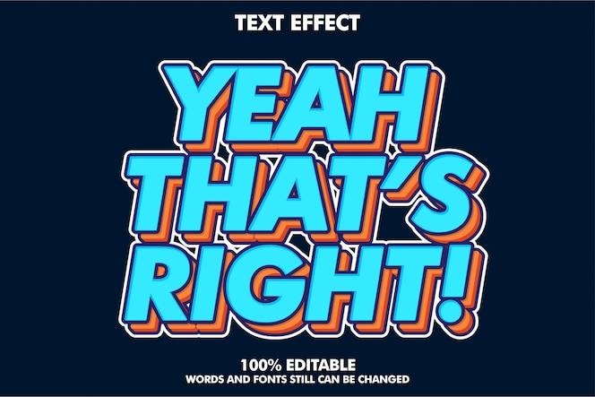 Starker mutiger retro- pop-arten-texteffekt für fahne der alten art