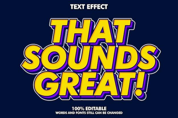 Starker mutiger retro- pop-arten-texteffekt für im altem stil