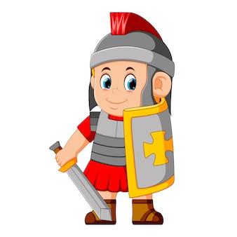 Starker spartanischer krieger