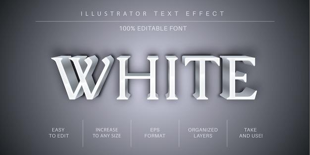 Starker weißer bearbeitbarer texteffekt