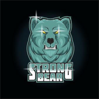 Starkes bären-esport-logo