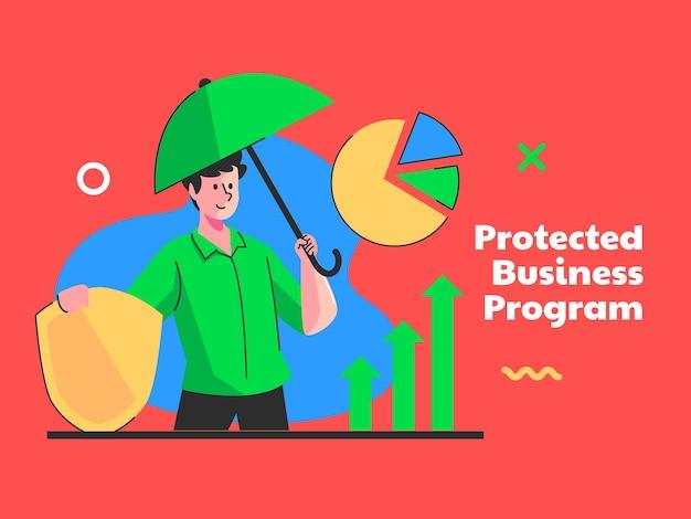 Starkes konzept des geschützten geschäftsprogramms