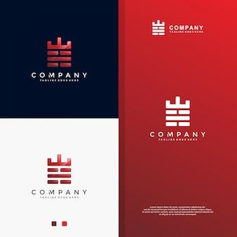 Starkes logo des roten backsteins