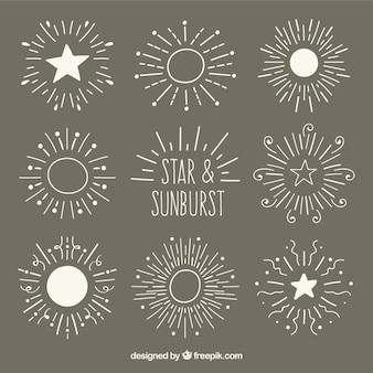 Stars & sunburst set