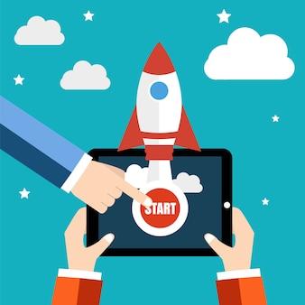 Start eines neuen geschäftsprojekts, einführung eines neuen produkts oder einer neuen dienstleistung