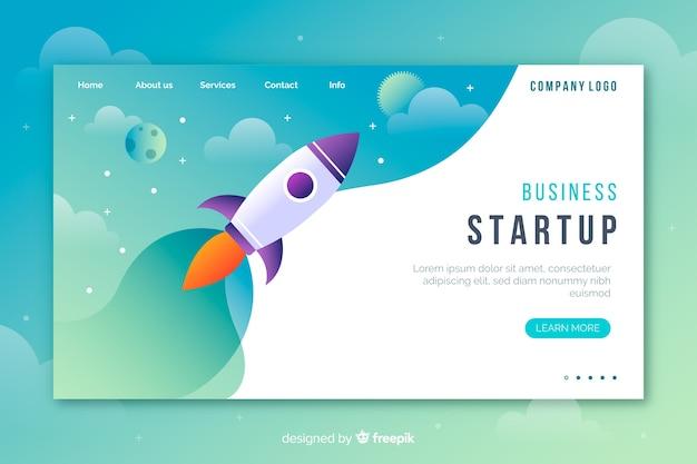 Start-landing-page-konzept