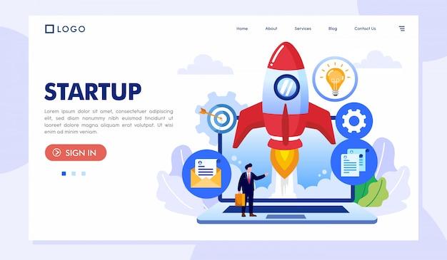 Start-landing-page-website-illustration