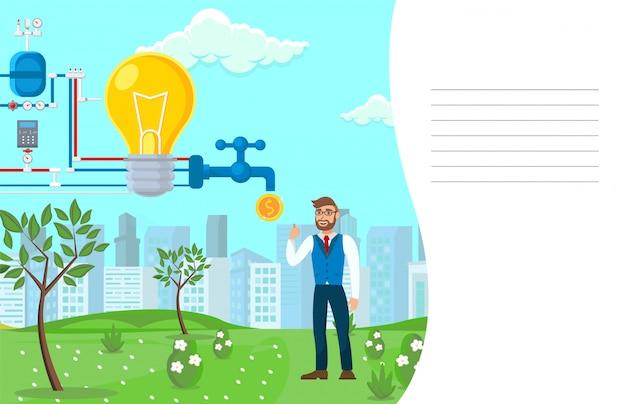 Start-monetisierungs-prozess-vektor-illustration