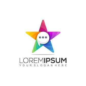 Start sprechen sie chat colorful logo template