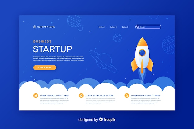 Start-up corporate landing page
