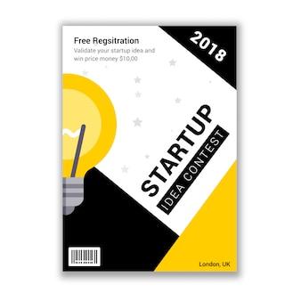 Start-wettbewerb veranstaltung einladung flyer