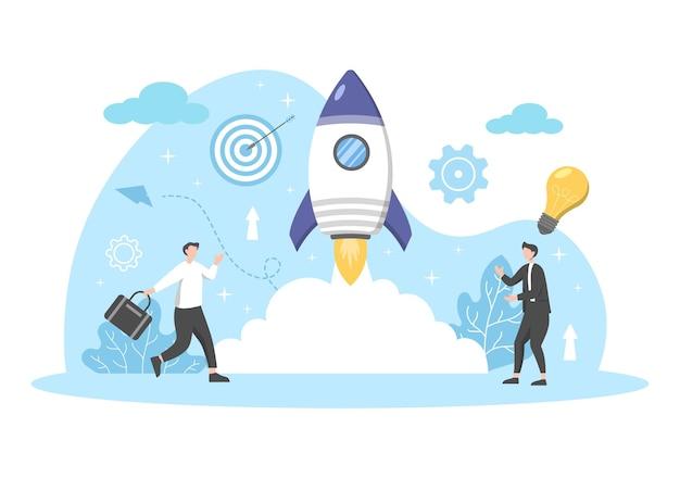 Starten sie business startup flat.