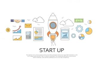 Starten Sie das Konzept eines neuen Geschäftsplans