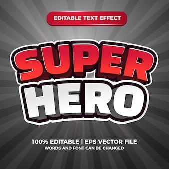 Starten sie das spiel editierbarer texteffekt 3d-comic-cartoon-stil