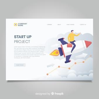 Starten sie die projekt-landingpage