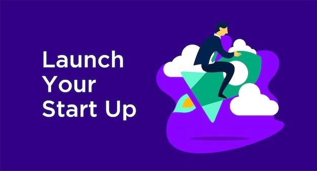 Starten sie die start-up-illustration