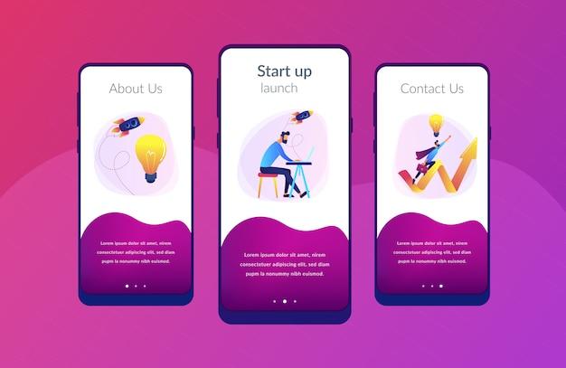 Starten sie die vorlage zum starten der app-oberfläche